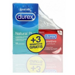 PROFIL DUREX NATURAL 12U + SENSITIVO 3UNIDADES