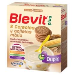 BLEVIT PLUS 8 CEREALES CON GALLETA MARIA 600 G