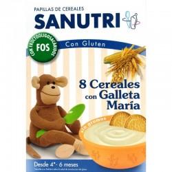 SANUTRI 8 CEREALES GALLETA MARIA CON BIFIDUS 600G
